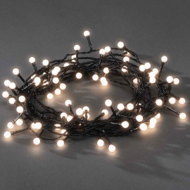 Konstsmide Chain of Lights, warm white, 6.3m, 80 round LEDs