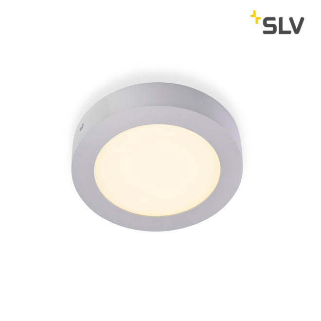 SLV SENSER LED PANEL round silver grey 10W