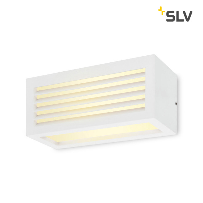 SLV Box-L, LED-Outdoor Wandleuchte, weiß