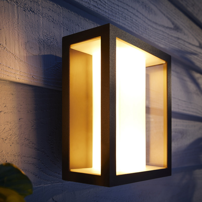 Philips Hue White and Color Ambiance Impress LED-Wandleuchte breit, Schwarz