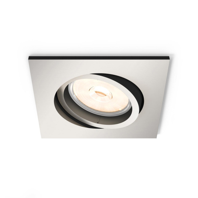 Philips myLiving LED-Downlight Donegal eckig silber