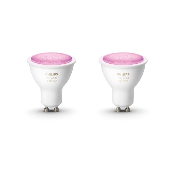 Philips Hue White & Color Ambiance LED-Spots GU10 Doppelpack