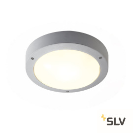 SLV Outdoor Wall and Ceiling Light DRAGAN, with Motion Sensor, silver grey, IP44