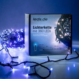 leds.de LED Light Chain, blue, 25.2m, 360 LEDs