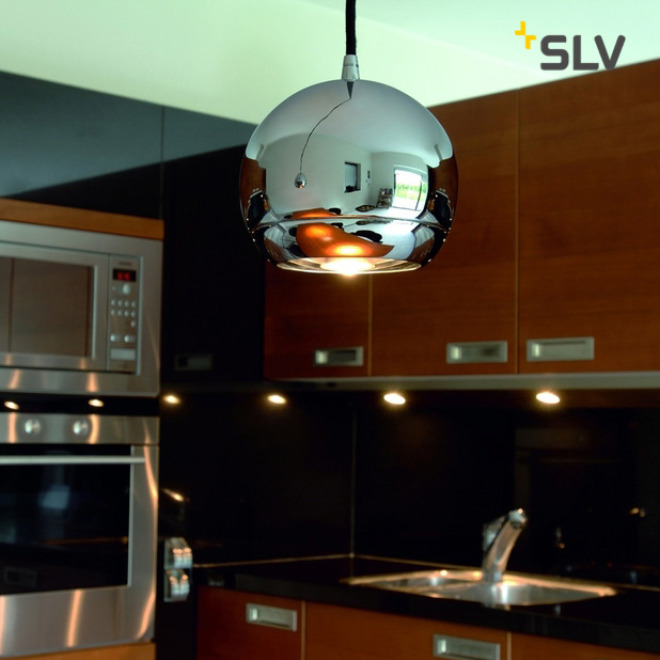 SLV LIGHT EYE lampe suspendue blanc/chrome