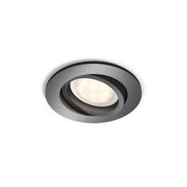 Philips myLiving LED-Einbauspot rund Shellbark, WarmGlow, anthrazit