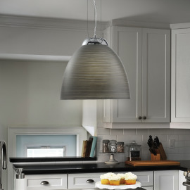 Ideal Lux TOLOMEO SP1 D40 GRIGIO pendant light