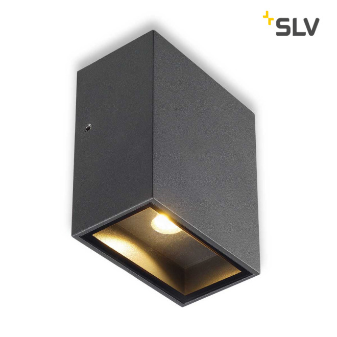 SLV QUAD 1 XL wall light anthracide