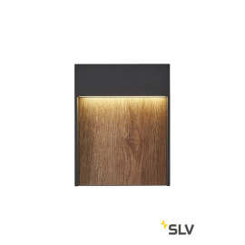 SLV FLATT WL 3000K IP65 Outdoor LED-Wandleuchte anthrazit/braun