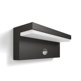 Philips myGarden LED wall light Bustan anthracite with motion sensor
