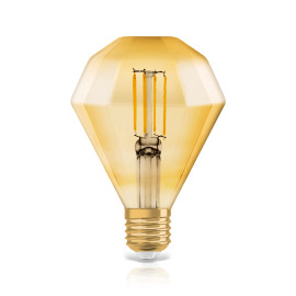 Osram LED VINTAGE 1906 CL DIAMOND GOLD40 non-dim 4.5W 825 E27 image