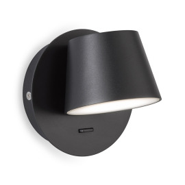 Honsel LED Wall Luminaire Mug, black