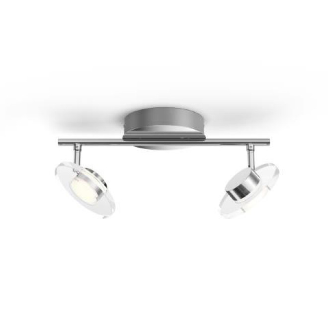 Philips myLiving LED-Spot Glissette 2-flammig, WarmGlow, chrom