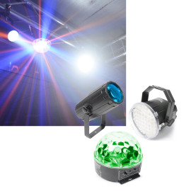 BeamZ Light Package 1. Moon,Strobe, Star LED Lichtset