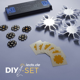 LEDs on Star PCB Hobbyist Set DIY Kit