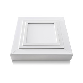 Lumego Gemma Mounting Frame, white, for 19.8x19.8cm Panel, incl. Spring Mounting Kit