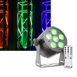 BeamZ BAC406 LED ProPAR 6x18W 6-1 HEX DMX IR