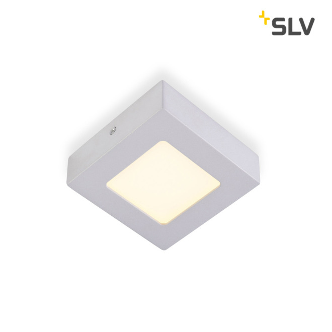 SLV SENSER LED PANEL square silver grey 6W
