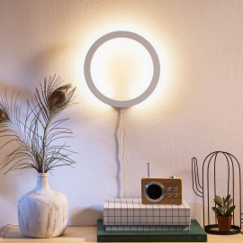 Philips Hue LED Wall Light Sana, white, White and Color Ambiance