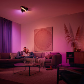 Philips Hue White & Color Ambiance Centris Cross LED Ceiling Light with 3 Spots black, 2850lm