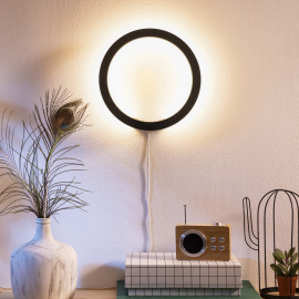 Philips Hue LED Wall Light Sana, black, White and Color Ambiance