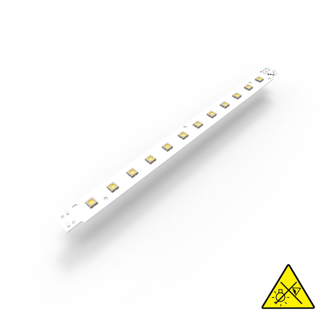 Violet UVC LED Module, 275nm, 12 LEDs, 281x19.2mm, 450mA, 208mW