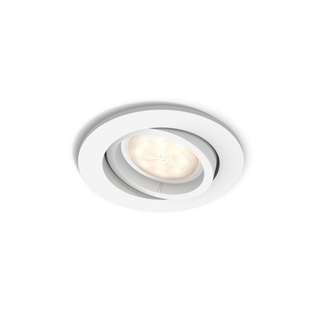 Philips myLiving LED Recessed Spot round Shellbark, WarmGlow, white