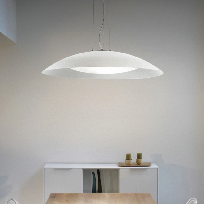Ideal Lux LENA SP3 D74 BIANCO lampe suspendue