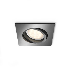 Philips myLiving LED Spot Encastré carré Shellbark, anthracite