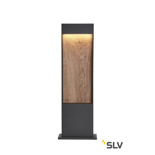SLV FLATT POLE 65 FL 3000/4000K IP65 Outdoor LED-Wegeleuchte anthrazit/braun