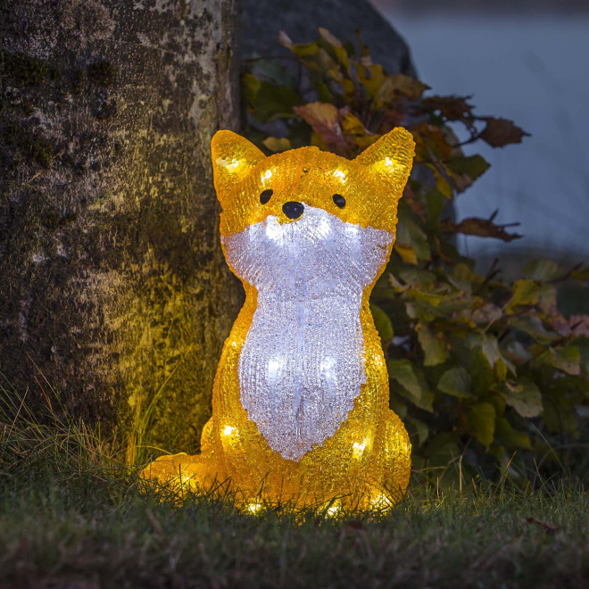 Konstsmide LED Acrylic Fox, 32 cool white LEDs