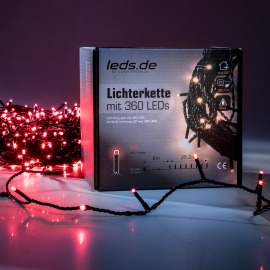 leds.de LED Light Chain, red, 25.2m, 360 LEDs