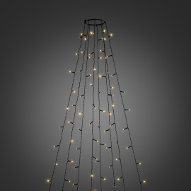 Konstsmide LED Tree Coat amber, 400 LEDs, 8 strings, with multifunction, app-controlled