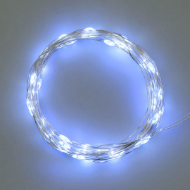 LED Micro Light Chain, 40 cold white LEDs, Battery Operated