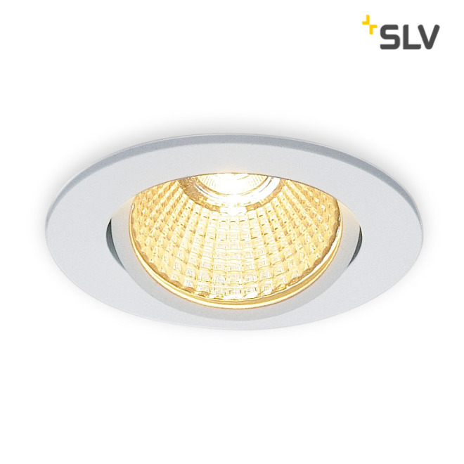 SLV NEW TRIA 68 LED DL ROUND Set Downlight mattweiß