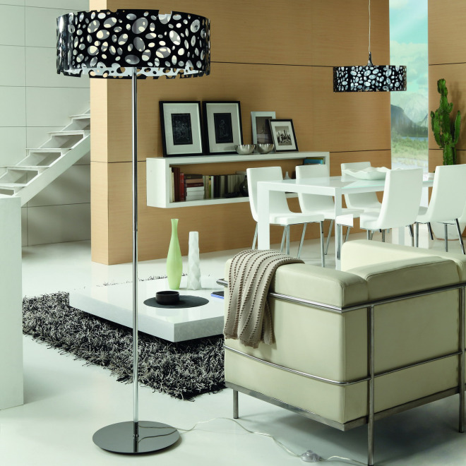 Mantra floor lamp MOON WHITE AND BLACK 4L
