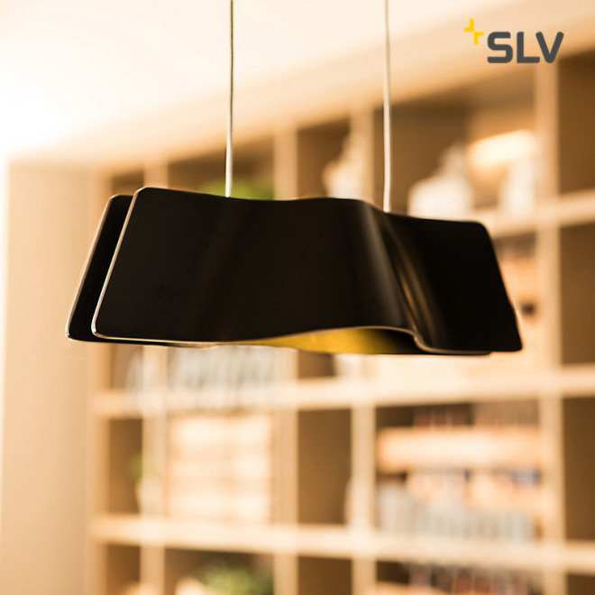 SLV WAVE PENDANT pendant light black