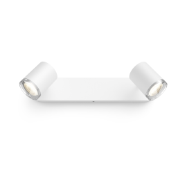 Philips Hue Adore LED Spot, Double-Flamed, 2x350lm, white, with Dimmer Switch