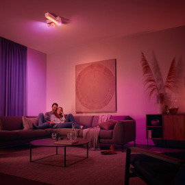 Philips Hue White & Color Ambiance Centris Cross LED Ceiling Light with 3 Spots white, 2850lm