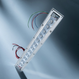Violet UVC LED-Modul, 275nm, 12 LEDs, 295x42mm, 450mA, 152mW