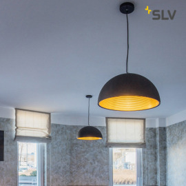SLV Forchini M 50 lampe suspendue E27 noir-or