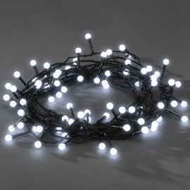 Konstsmide Chain of Lights, white, 6.3m, 80 round LEDs