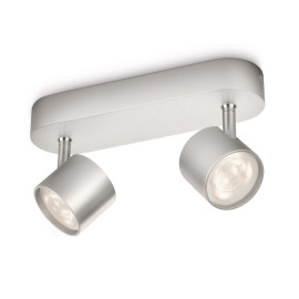 Philips myLiving Star Spot 2-flames aluminum