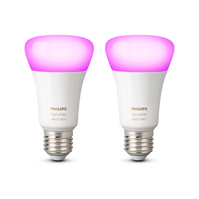 Philips Hue White & Color Ambiance LED E27 Doppelpack