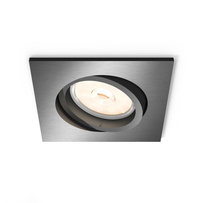 Philips myLiving LED Downlight Donegal square grey