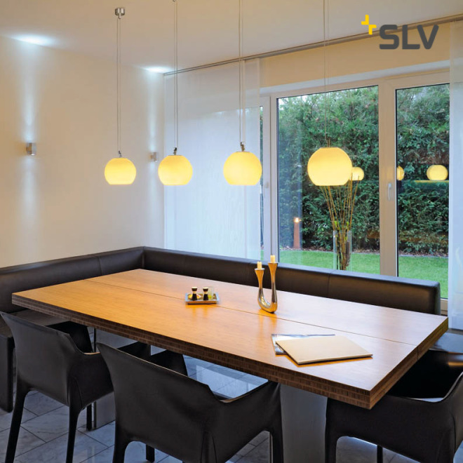 SLV SUN pendant light aluminum/white