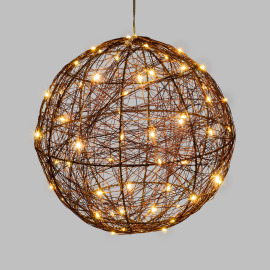 Lotti LED Ball, 120 warm white LEDs, Copper-coloured Metal Frame