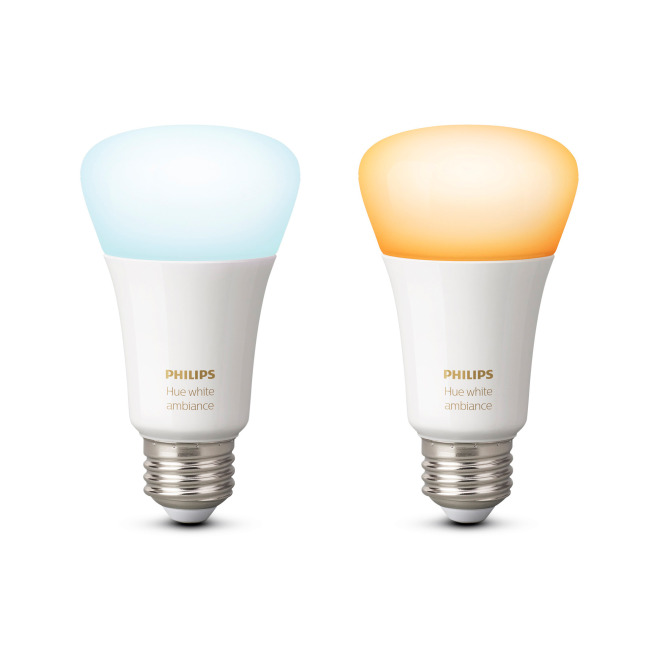 Philips Hue White Ambiance LED E27 Doppelpack