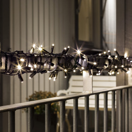 LED Chain of Lights warm white 14m (40 LEDs), with 9h Timer, IP67