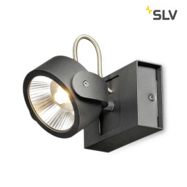 SLV Kalu 60° LED wall and ceiling light black